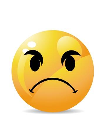 emoticone: Smiley su bianco Vettoriali