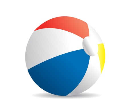 Illustration of a beach ball on a white background  Vector
