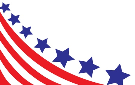 president of usa: USA flag in style vector
