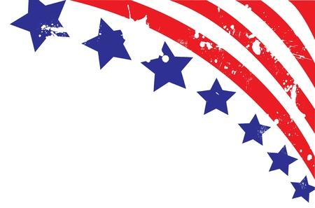 스타일에 미국 국기 일러스트