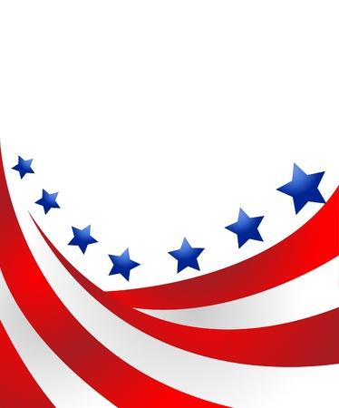 USA-Flagge in der Art Vektor Vektorgrafik
