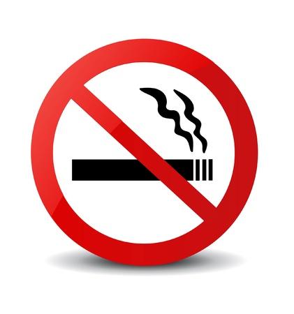 no problems: No Smoking Sign  Illustration