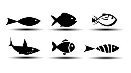 魚のアイコン  イラスト・ベクター素材