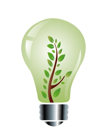 hydroelectricity: ecology friendly light bulb