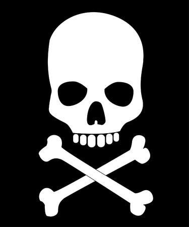 skull and cross bones: Skull and bones