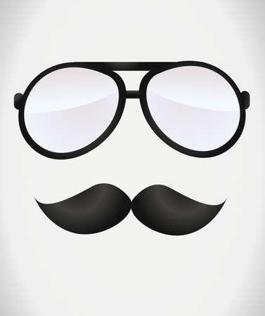 indie: Los vidrios del empoll�n y bigotes