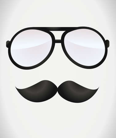 nerd glasses: Nerd glasses and mustaches Illustration