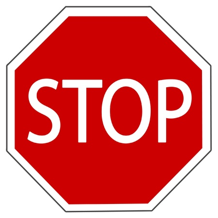 highway sign: illustration of Stop sign