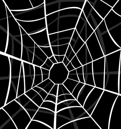 spinnennetz: Vektor-Illustration von Spinnweben
