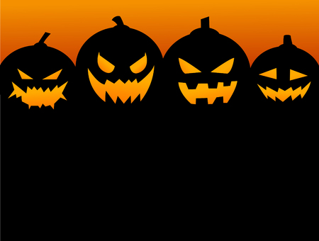 Halloween Party Background with Pumpkins