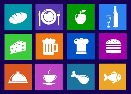 Kitchen and food icons  Vector
