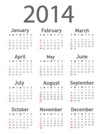 calendar september: 2014 calendar  Illustration