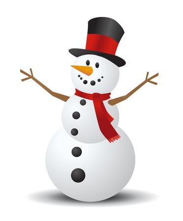 snow cap: Christmas Snowman