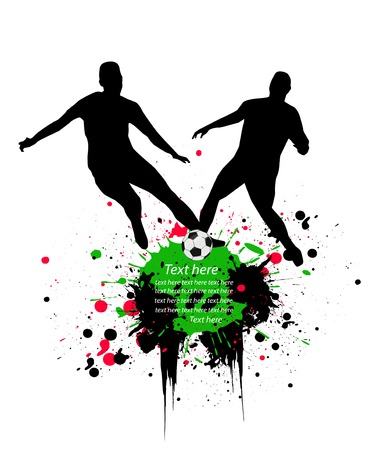 playoff: soccer players Illustration