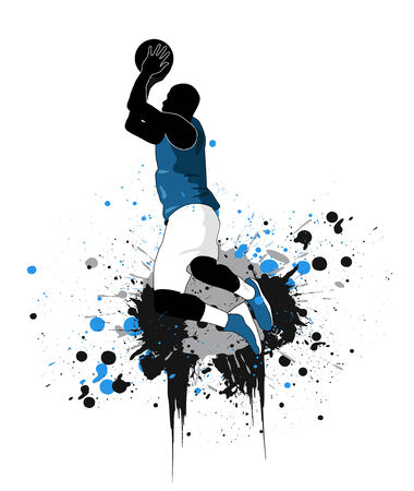 determined: Basketball player  Illustration
