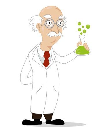 scientist man: funny cartoon scientist