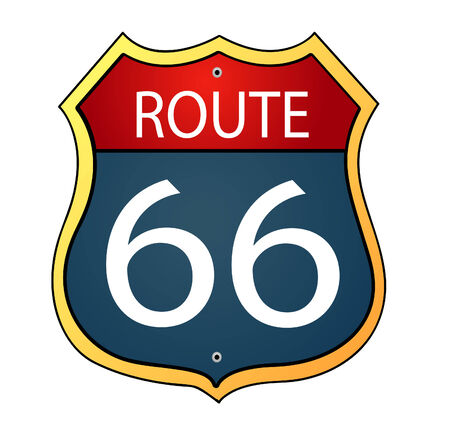 Glossy route sixty six icon Vector