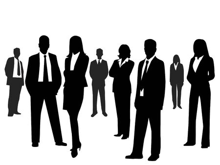 woman shadow: Business people