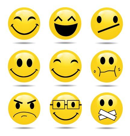 Vector Smile Icon Set  Vector