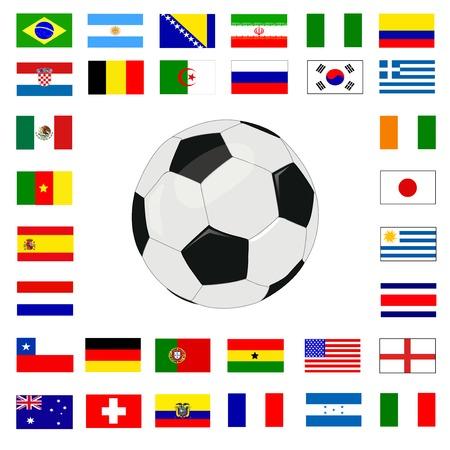 soccer championship 2014 Vector