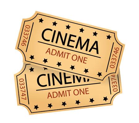 admit one: cinema tickets  Illustration