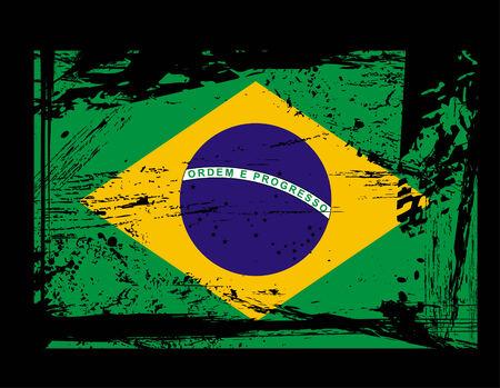 brazil symbol: grunge Brazil flag vector