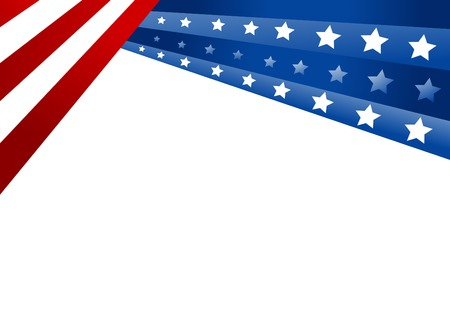 USA vlag in stijl vector Stockfoto