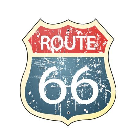 Grunge route 66 roadsign 版權商用圖片 - 30069227