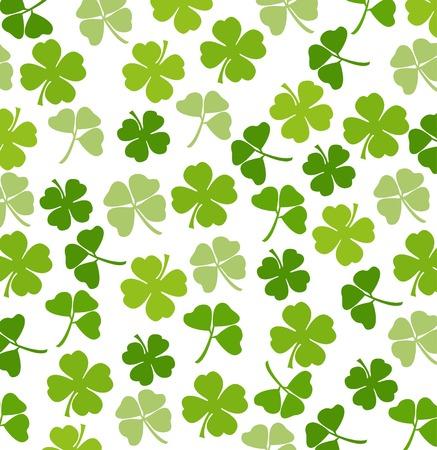 cloverleaf: St. Patricks day vector background with shamrock