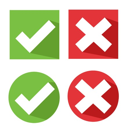 cross mark: vector check mark icons Illustration