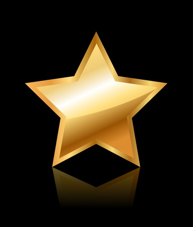 gold star: Shiny Gold Star Illustration