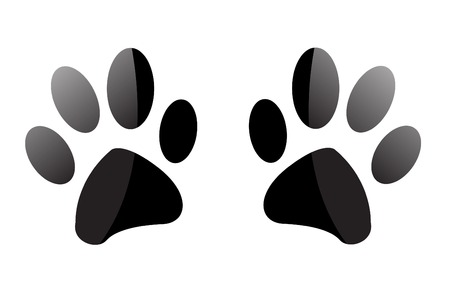 dog outline: Paw Prints