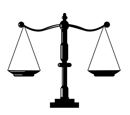 weighing scale: Justice scale icon Illustration