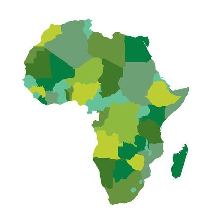 Carte de l'Afrique Banque d'images - 31447910