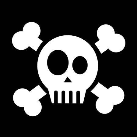 etiquete: vector skull with crossed bones