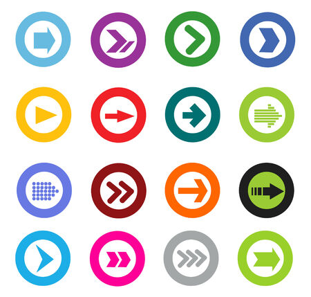 simplistic icon: Arrow sign icon set Illustration