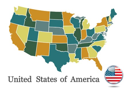 USA map Vetores