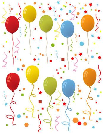 Achtergrond met veelkleurige ballonnen. Vector illustratie.