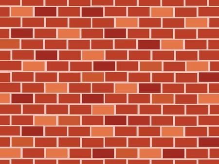 Rode bakstenen muur naadloze Vector illustratie achtergrond