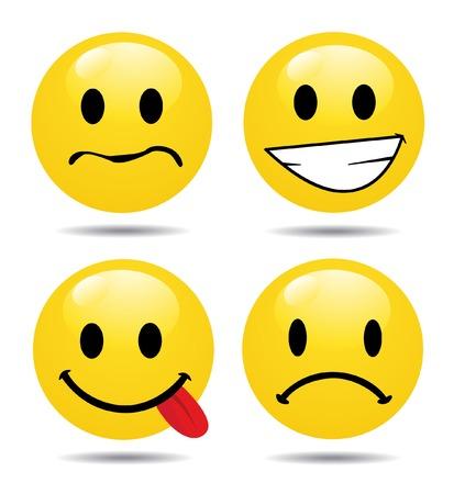 Set tekens van gele emoticons