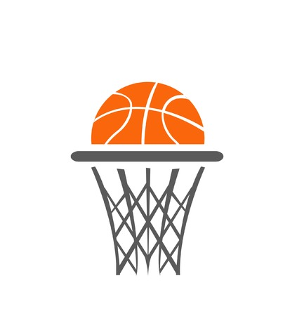hand basket: Basketball, vector Illustration