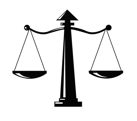 legal scales: Justice scale icon Illustration