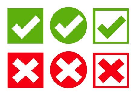 Check box icon set illustration