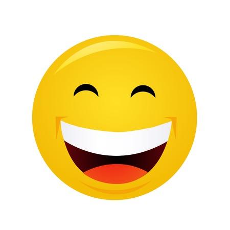 Gelber Emoticon Zeichentrickfigur