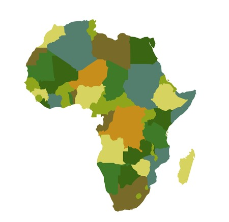 social history: Africa map