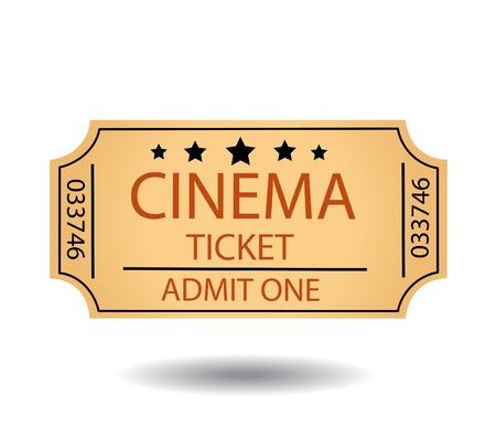 bioscoopkaartjes Stock Illustratie