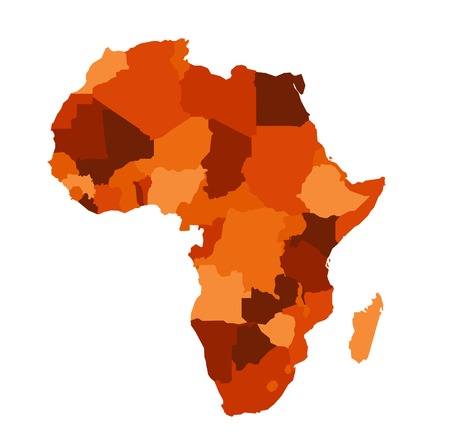 poblacion: África mapa  Vectores