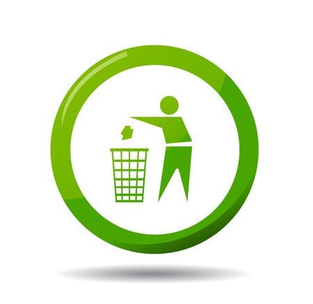 dumping: Do not litter, vector sign