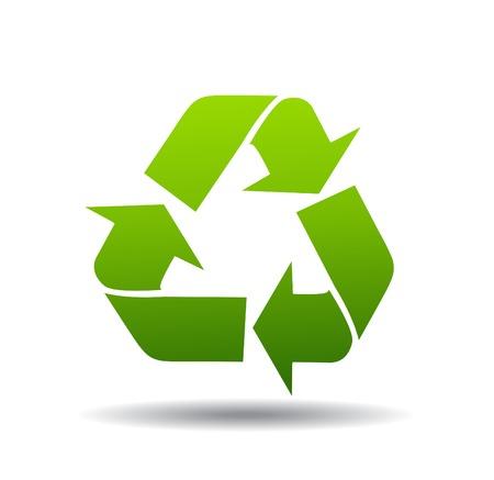 reciclar basura: logotipo de reciclaje