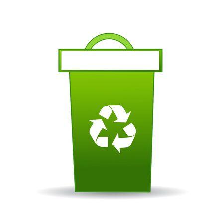 recycle bin: La papelera de reciclaje Foto de archivo